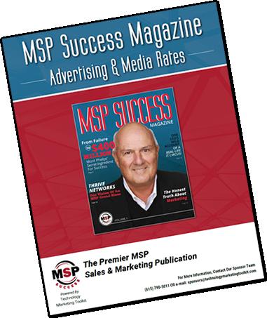 MSP Success Magazine Advertising Media Rates